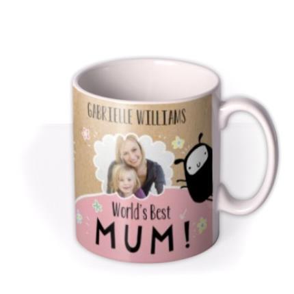 Mugs - Mother's Day World's Best Mum Photo Upload Mug - Image 2