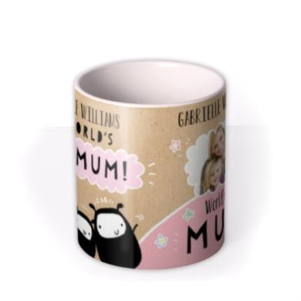 Mugs - Mother's Day World's Best Mum Photo Upload Mug - Image 3