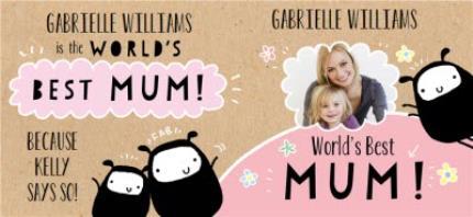 Mugs - Mother's Day World's Best Mum Photo Upload Mug - Image 4