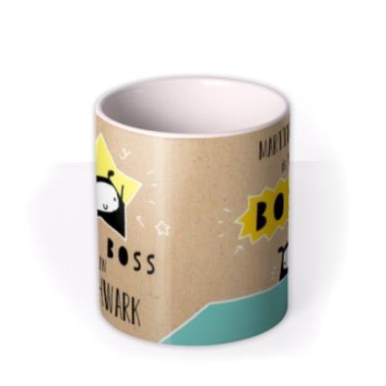Mugs - Best Boss Personalised Mug - Image 3