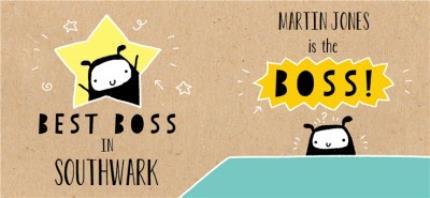 Mugs - Best Boss Personalised Mug - Image 4