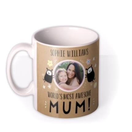Mugs - Mother's Day Mug - World's best Mum - photo upload mug - Image 1