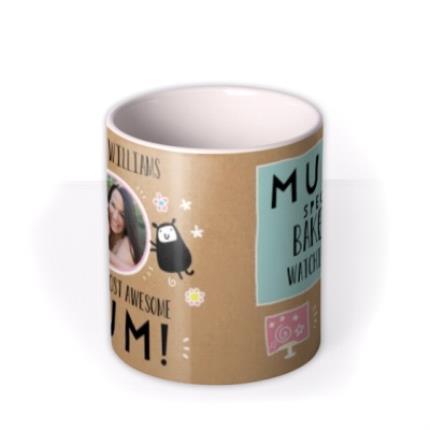 Mugs - Mother's Day Mug - World's best Mum - photo upload mug - Image 3
