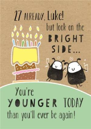 Greeting Cards - 27th Birthday Card - Image 1