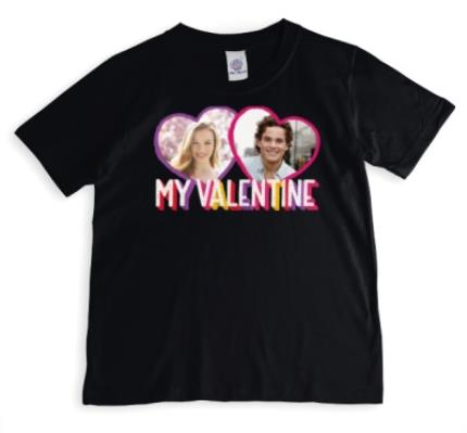 T-Shirts - My Valentine's Photo upload T-shirt  - Image 1