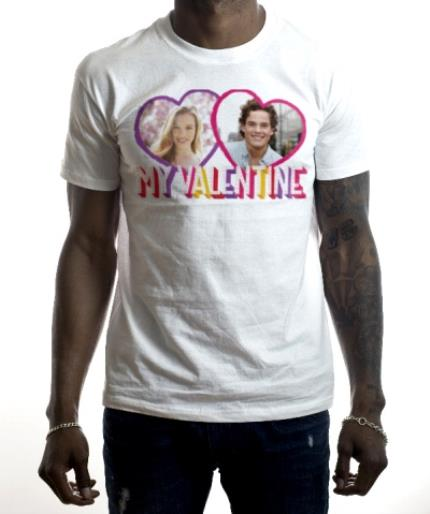 T-Shirts - My Valentine's Photo upload T-shirt  - Image 2