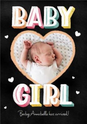 Greeting Cards - Baby Girl Has Arrived Birthday Card - Image 1