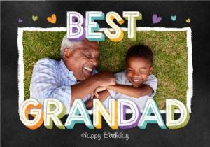 Greeting Cards - Best Grandad Photo Upload Birthday Card  - Image 1