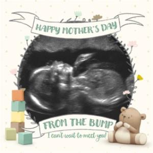 Greeting Cards - Mother's Day card - from the bump - cute Dud - ultrasound scan photo upload - Image 1