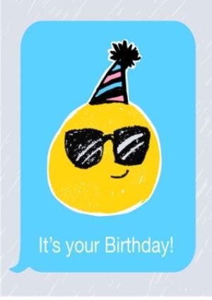 Greeting Cards - Birthday concertina card - emoji  - Image 1