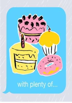 Greeting Cards - Birthday concertina card - emoji  - Image 3