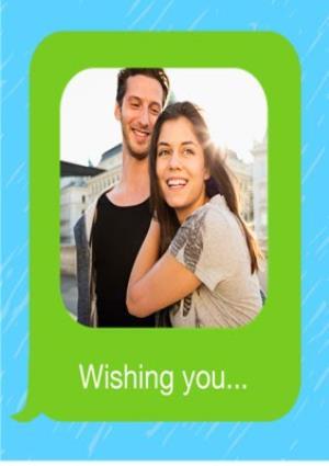 Greeting Cards - Birthday concertina card - emoji - photo upload - Image 2