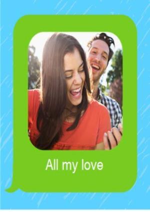 Greeting Cards - Birthday concertina card - emoji - photo upload - Image 6