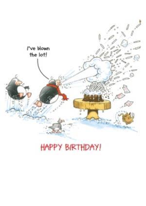 Greeting Cards - Birthday Card - Eric The Penguin - Birthday Cake - Image 3