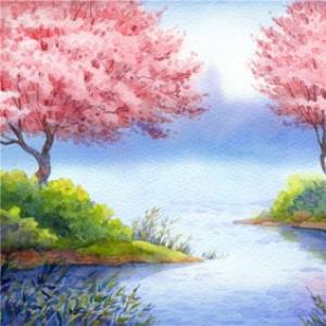 Greeting Cards - Birthday Card - Painted Landscape - Art Card - Image 1