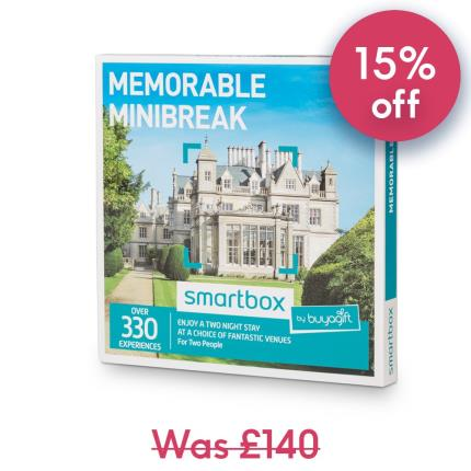 Gift Experiences - Smartbox Two Night Memorable Minibreak Gift Experience - Image 1