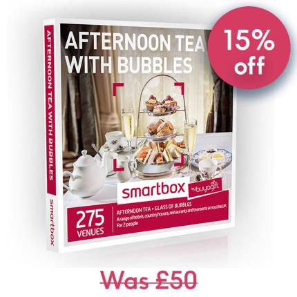 Gift Experiences - Smartbox Afternoon Tea with Bubbles Gift Experience - Image 1