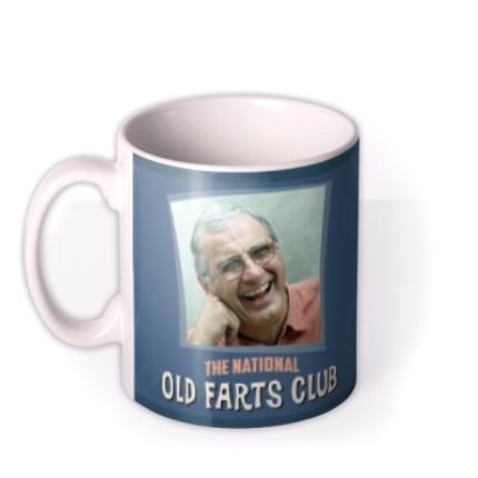 Mugs - Father's Day Old Fart Photo Upload Mug - Image 1