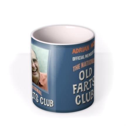 Mugs - Father's Day Old Fart Photo Upload Mug - Image 3