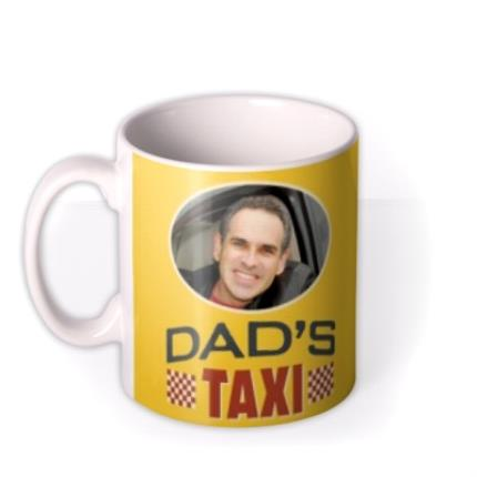 Mugs - Dad's Taxi Personalised Name and Photo Mug - Image 1