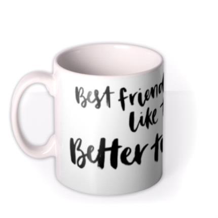 Mugs - Best Friends Are Like Tea And Cake Personalised Mug - Image 1