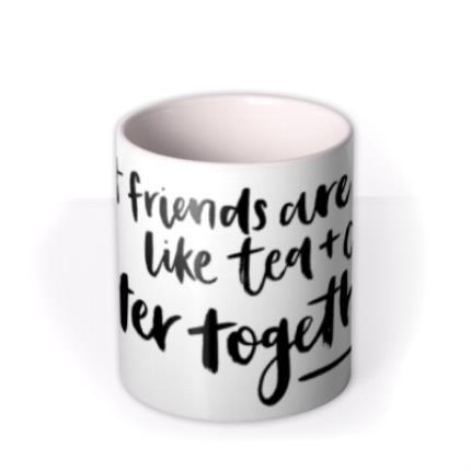 Mugs - Best Friends Are Like Tea And Cake Personalised Mug - Image 3