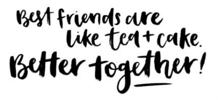 Mugs - Best Friends Are Like Tea And Cake Personalised Mug - Image 4