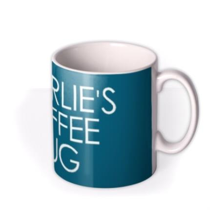 Mugs - Blue Name Coffee Personalised Mug - Image 2