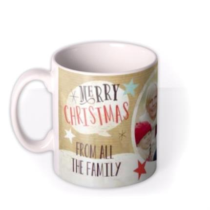 Mugs - Merry Christmas Family Photo Upload Mug - Image 1