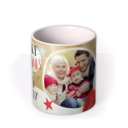Mugs - Merry Christmas Family Photo Upload Mug - Image 3