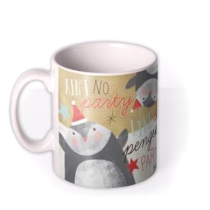 Mugs - Merry Christmas Penguin Photo Upload Mug - Image 1