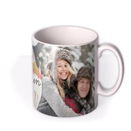 Mugs - Merry Christmas Penguin Photo Upload Mug - Image 2