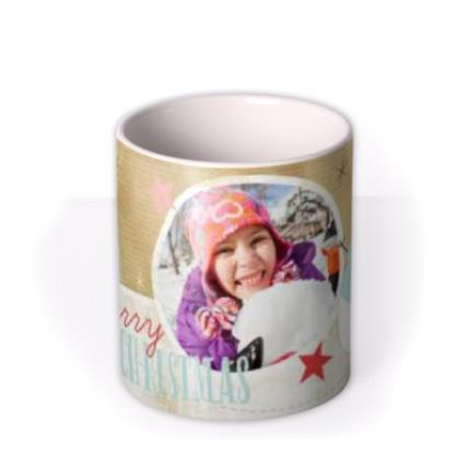 Mugs - Merry Christmas Snowman Photo Upload Mug - Image 3