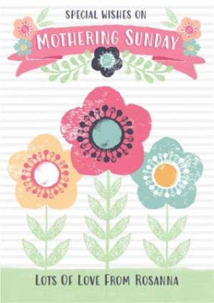 Greeting Cards - Mother's Day Card - Mum - Floral Mothering Sunday Card - Image 1