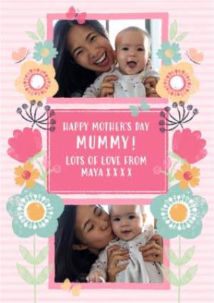 Greeting Cards - Mother's Day Card - Photo Upload - Pretty Flowers - Image 1