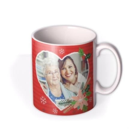 Mugs - Christmas With Love Heart Photo Upload Mug - Image 2