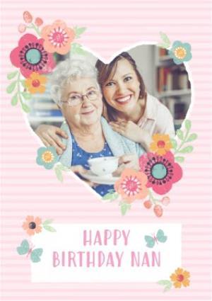 Greeting Cards - Birthday Card - Happy Birthday - Nan - Photo Upload - Image 1