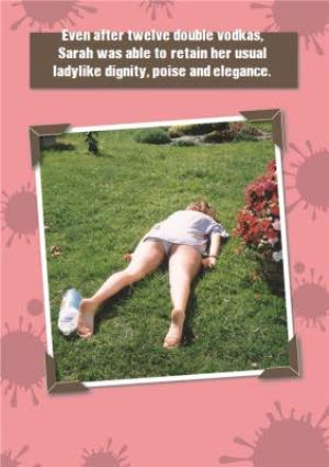 Greeting Cards - After A Few Vodkas Funny Personalised Birthday Card - Image 1