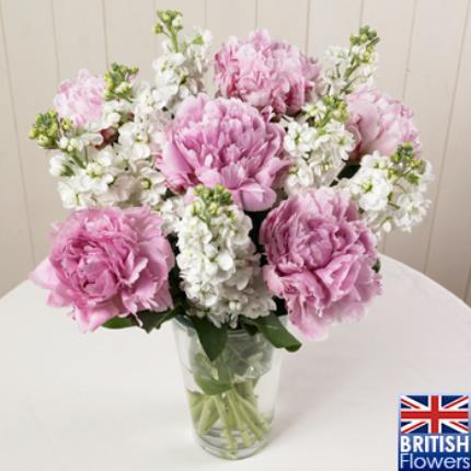 Plants -  British Peonies & Stocks Bouquet - Image 2