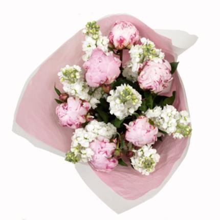 Plants -  British Peonies & Stocks Bouquet - Image 3