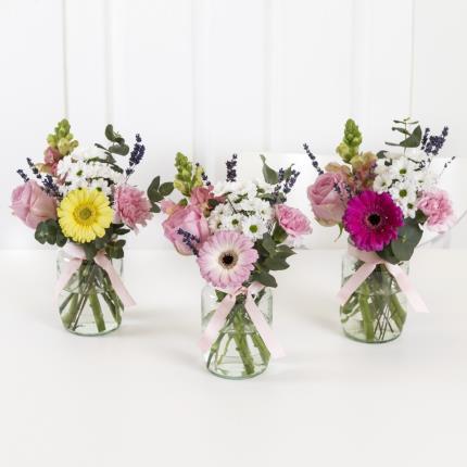 Plants - Mother's Day Jam Jar Posy Trio - Image 2
