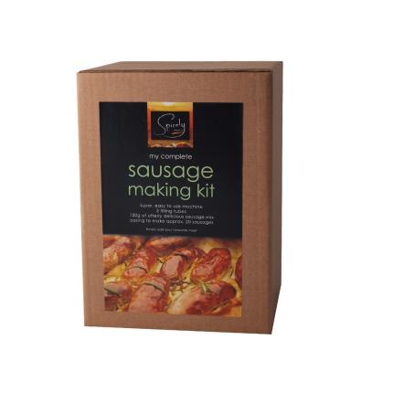 Gift Boxes - Spicely Does It Make Your Own Sausages Kit with Machine - Image 1