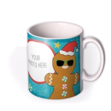 Mugs - Christmas Gingerbread Man Photo Upload Mug - Image 2