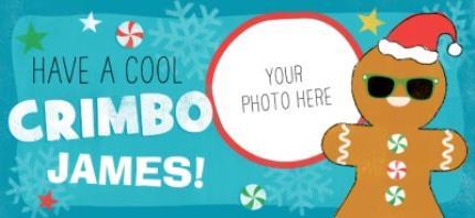 Mugs - Christmas Gingerbread Man Photo Upload Mug - Image 4