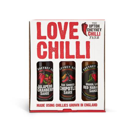Food Gifts - Love Chilli Sauce Trio - Image 1