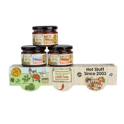 Food Gifts - South Devon Chilli Farm Salsa Trio - Image 1