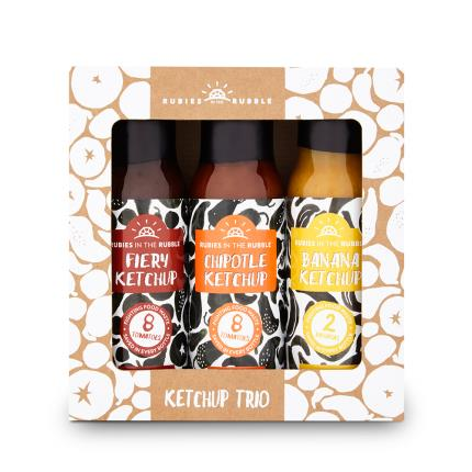 Food Gifts - Rubies in the Rubble Ketchup Trio Gift Set - Image 1