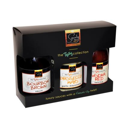 Gift Boxes - Spicely Does it The Tipsy Sauce Collection Food Gift - Image 1