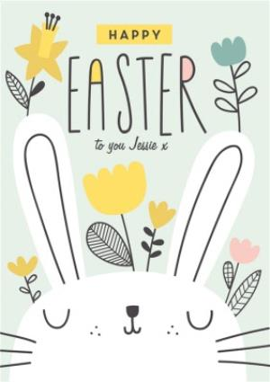 Greeting Cards - Happy Easter Card - Bunny - Rabbit  - Image 1