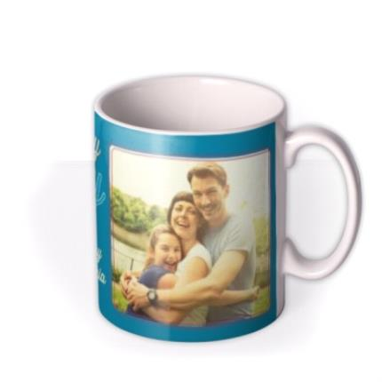 Mugs - Mum Birthday Blue Photo Upload Mug - Image 2